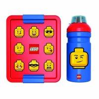 LEGO ICONIC Classic svačinový set (láhev a box) - červená/modrá