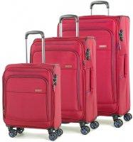 Sada cestovních kufrů ROCK TR-0162/3 - červená