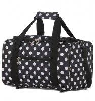Cestovní taška CITIES 611 - černá/bílá