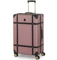 Cestovní kufr ROCK TR-0193/3-L ABS - růžová