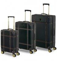 Sada cestovních kufrů ROCK TR-0193/3 ABS - černá