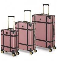 Sada cestovních kufrů ROCK TR-0193/3 ABS - růžová